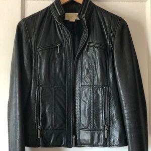 Michael Kors Black Leather Jacket size Small